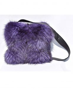 handbag black fox