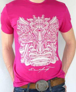 Herren T-Shirt Fuchsia mit Graus - Ernst Fuchs Motiv