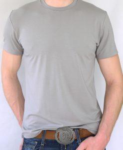 Herren T-Shirt Grau - Motiv Fliege - vorn