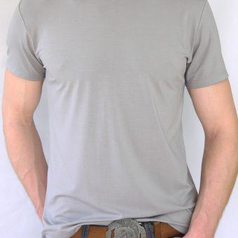 Herren T-Shirt Grau – Motiv Fliege – vorn