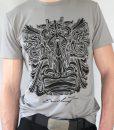 Herren T-Shirt Grau mit Schwarz – Ernst Fuchs Motiv
