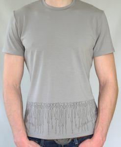 Herren T-Shirt grau - Motiv Menschen