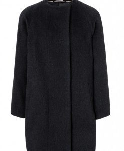 Mantel Alpaka schwarz