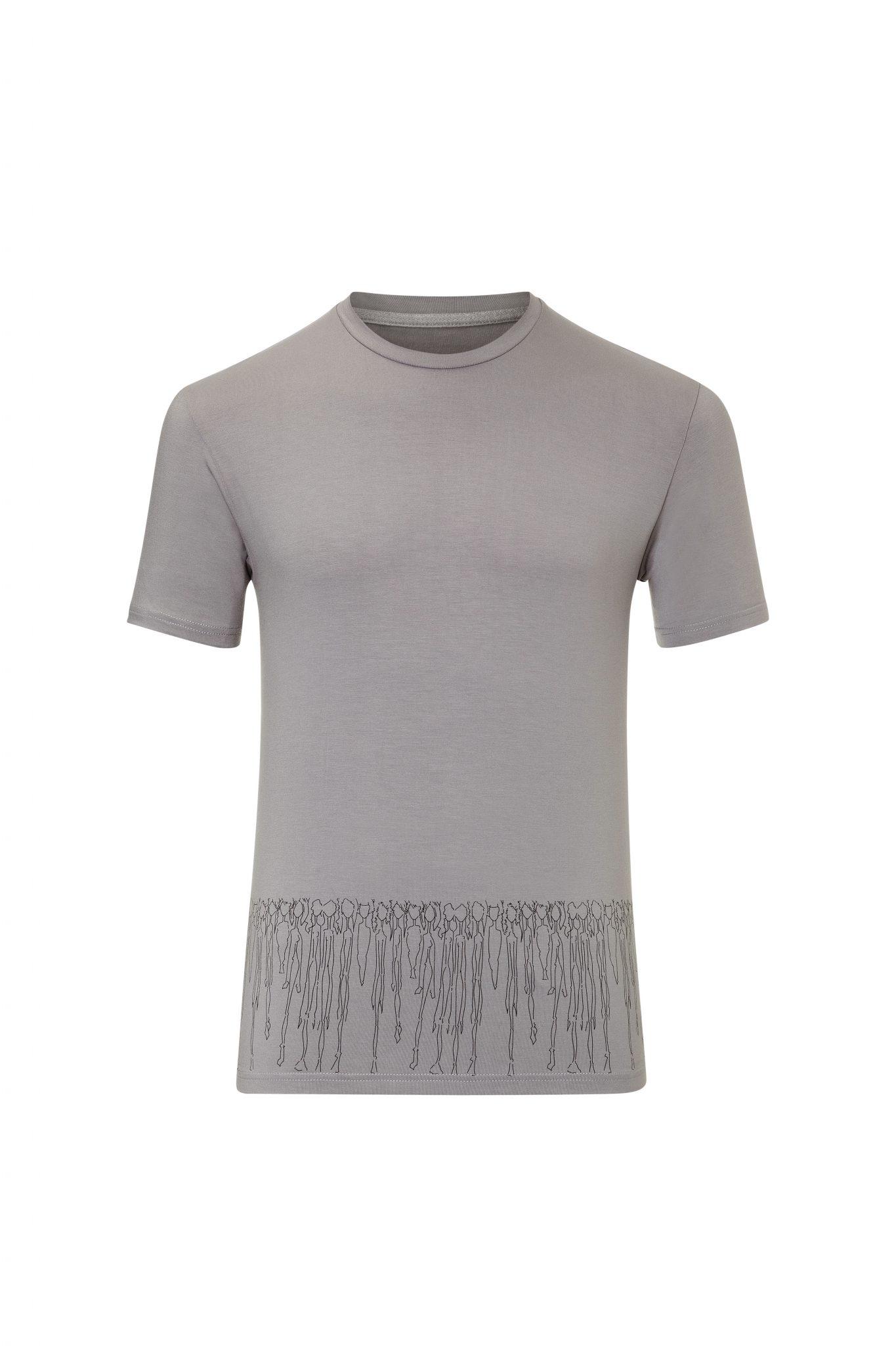 Herren T-Shirt grau – Motiv Menschen
