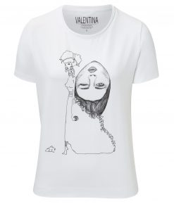 Damen T-Shirt - Gedanken im Rucksack Motiv