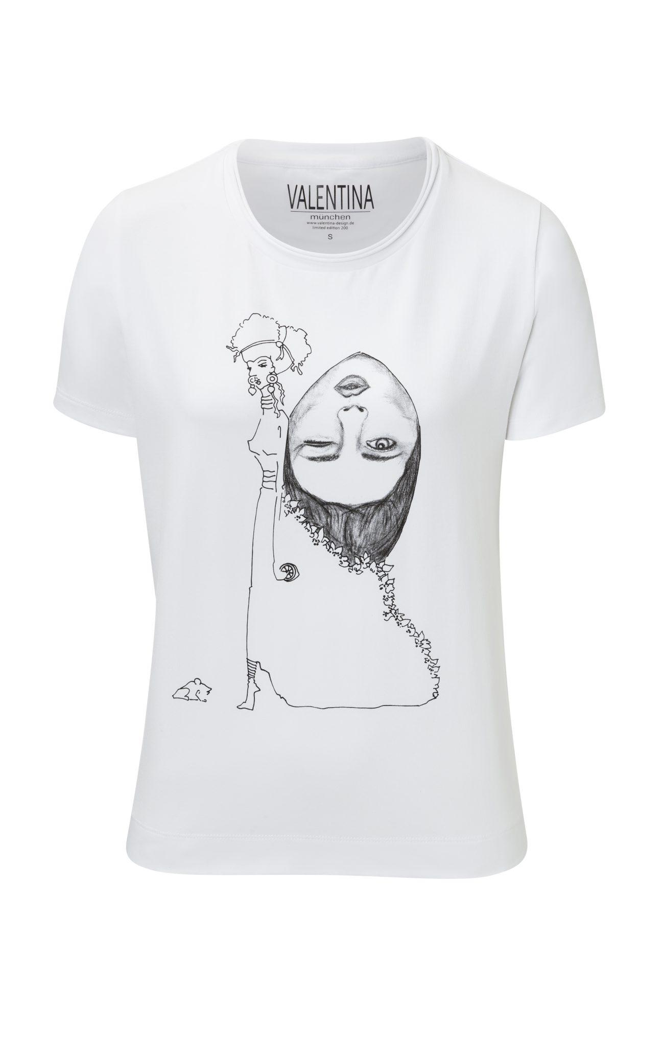 Damen T-Shirt – Gedanken im Rucksack Motiv